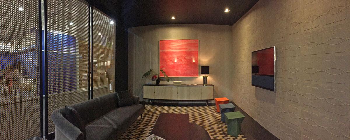 Espaço da revista Kaza na Expo Revestir decorado com produtos Emporio Beraldin