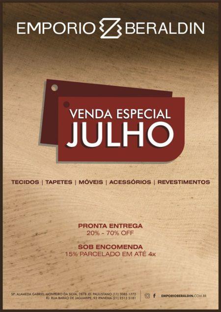 VENDA ESPECIAL DE JULHO