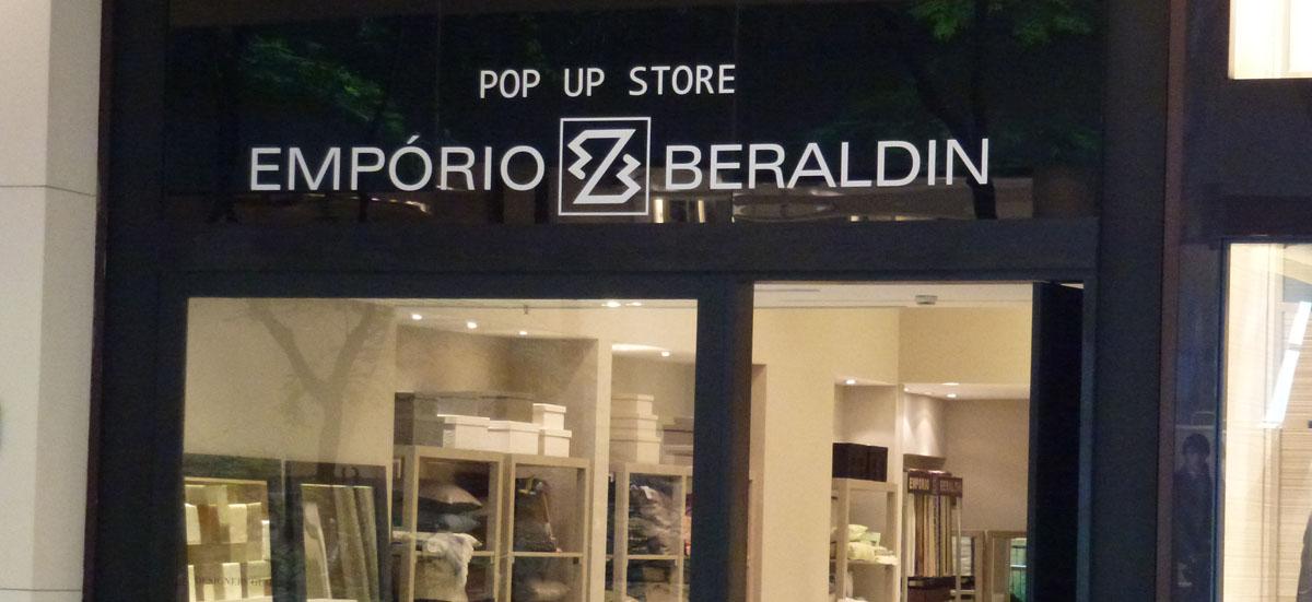 Pop Up Store Emporio Beraldin no Shopping Cidade Jardim