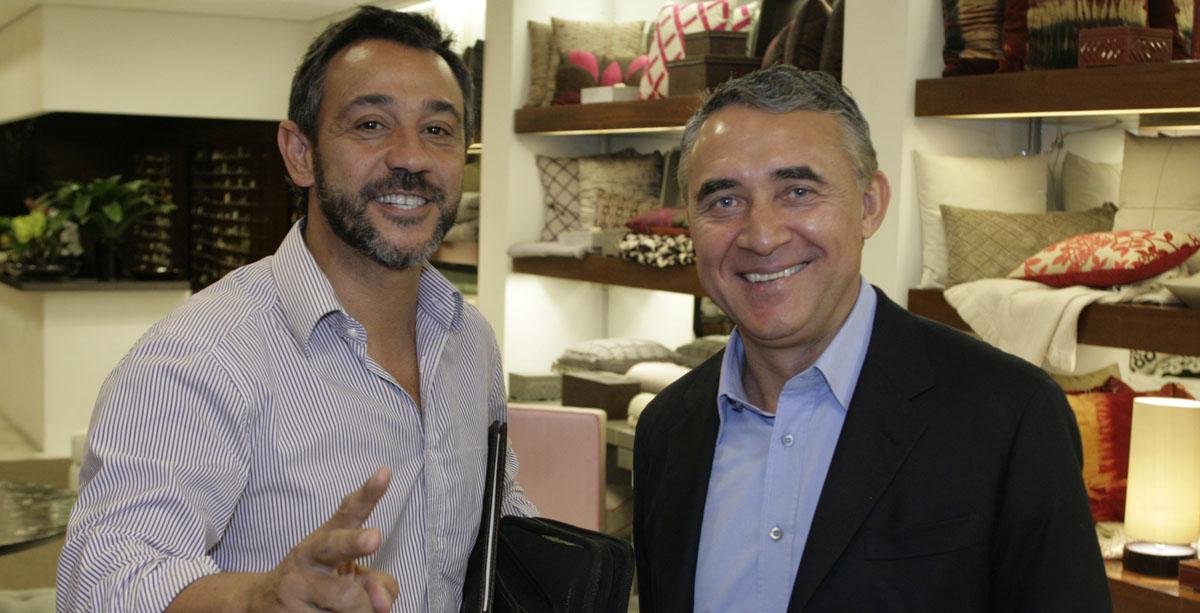 Marcelo Faisal e Zeco Beraldin na festa de lançamento Coleção 2009